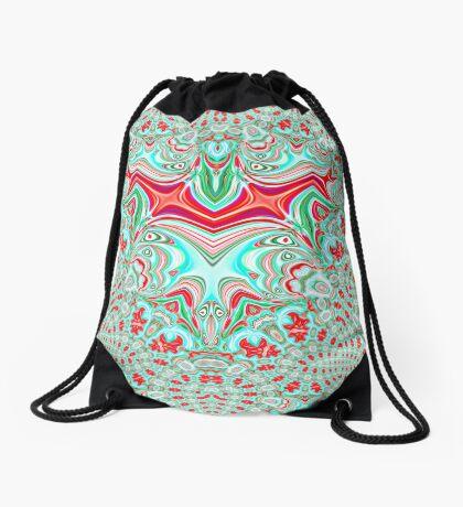 Abstract Bat Drawstring Bag