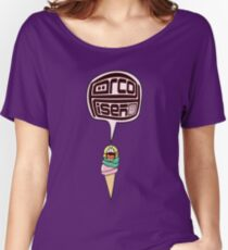 Funny Hot Summer Scoop Cone I Scream Ice Cream Lover Women's Relaxed Fit T-Shirt