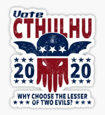 VOTE CTHULHU 2020 - CTHULHU AND LOVECRAFT Sticker