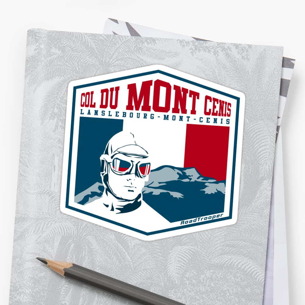 Col du Mont Cenis France 02 Sticker + T-Shirt - Route des Grandes Alpes by ROADTROOPER
