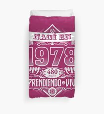 I was born in 1978 Duvet Cover