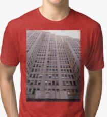 Condominium, New York, Manhattan, Brooklyn, New York City, architecture, street, building, tree, car,   Tri-blend T-Shirt
