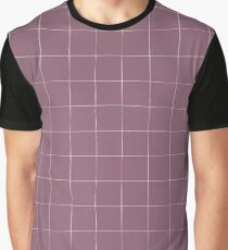 Purple check, square, plaid pattern. Violet bars of different width Graphic T-Shirt