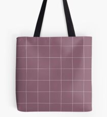 Purple check, square, plaid pattern. Violet bars of different width Tote Bag