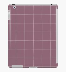 Purple check, square, plaid pattern. Violet bars of different width iPad Case/Skin