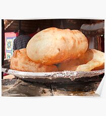Close up of the Indian food deep fried dish of Bhature Poster