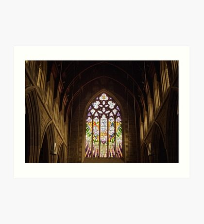 Stained Glass—St David's Cathedral Hobart Art Print