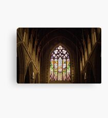 Stained Glass—St David's Cathedral Hobart Canvas Print
