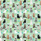 Cat easter bunny spring cute cat breeds cat lady kittens pattern by PetFriendly