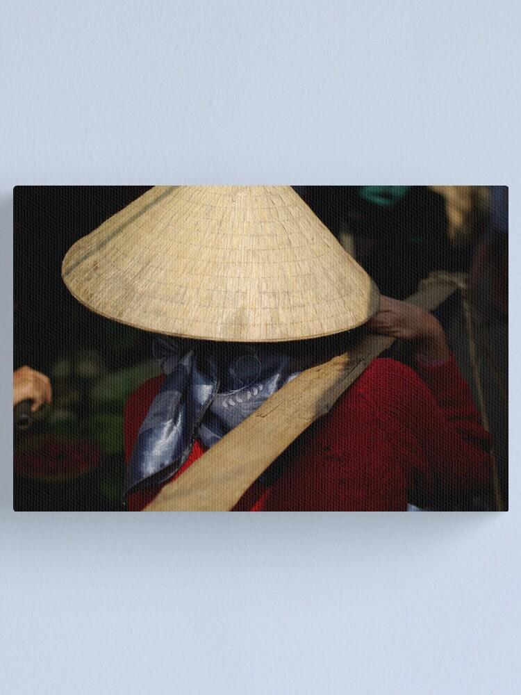 Alternate view of Vietnam Market Lady Canvas Print