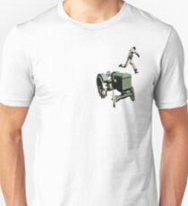 the 100 meter tractor jump edit Unisex T-Shirt