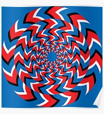 Optical illusion - Rotation effect Poster