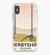 Derbyshire England rail poster iPhone Case