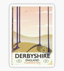 Derbyshire England rail poster Sticker