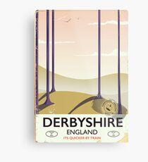 Derbyshire England rail poster Metal Print