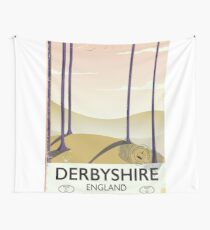 Derbyshire England rail poster Wall Tapestry