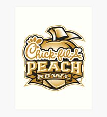 chick fil a peach bowl Art Print