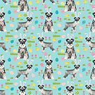Schnauzer easter costume spring easter bunny pure breed dog pattern gifts by PetFriendly