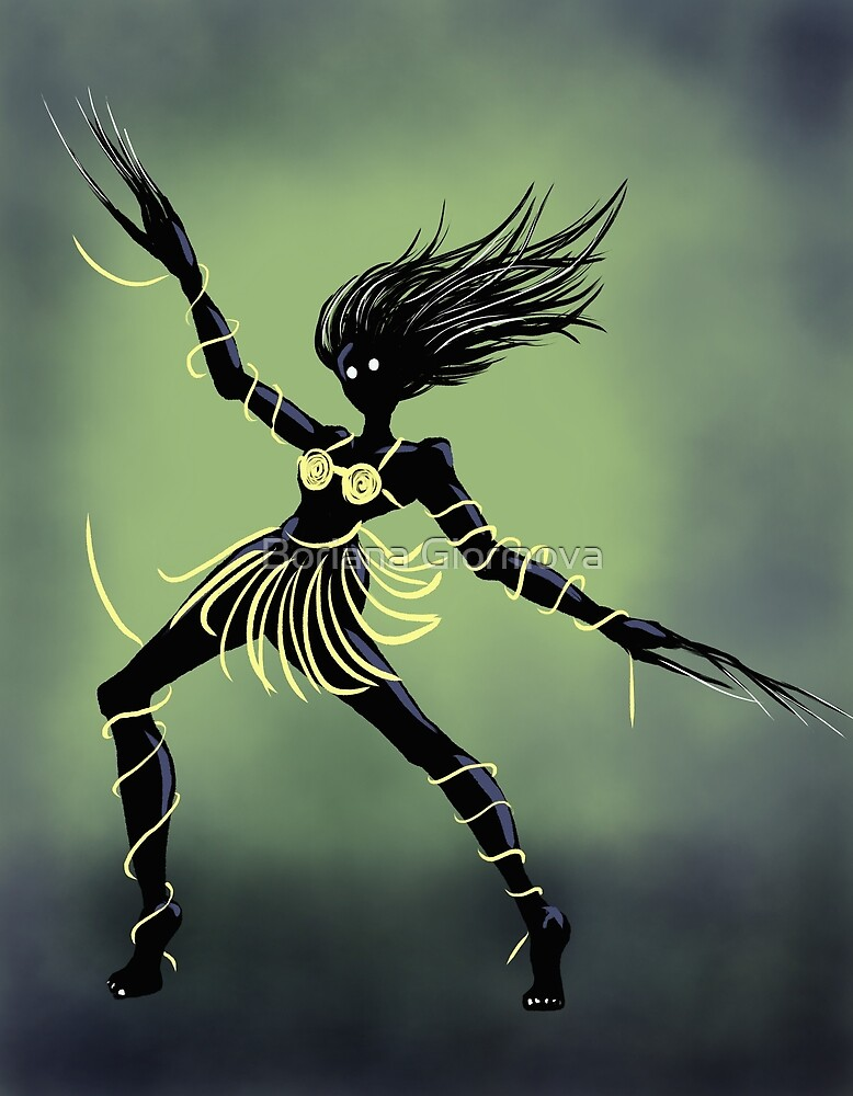 Fun Dark Creepy Midnight Dancing Girl by Boriana Giormova