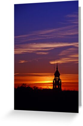 Lone Minaret of the Plaza de Espana at sunset by Renee Hubbard Fine Art Photography