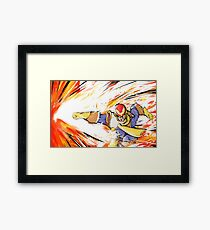 Captain Falcon | Falcon Punch Framed Print