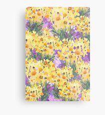Yellow Daffodil Garden Metal Print