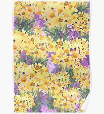 Yellow Daffodil Garden Poster