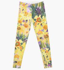 Yellow Daffodil Garden Leggings