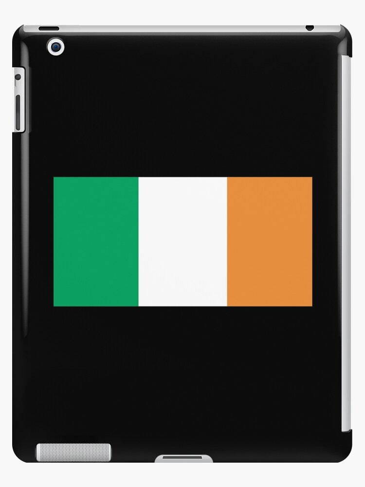 IRISH FLAG, FLAG OF IRELAND, EIRE, PURE & SIMPLE, on BLACK by TOM HILL - Designer