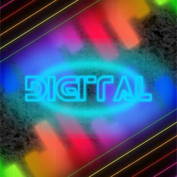 Retro digital design  by The-Mister-Keys