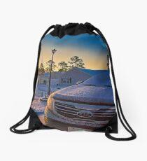 Morning Snow Drawstring Bag