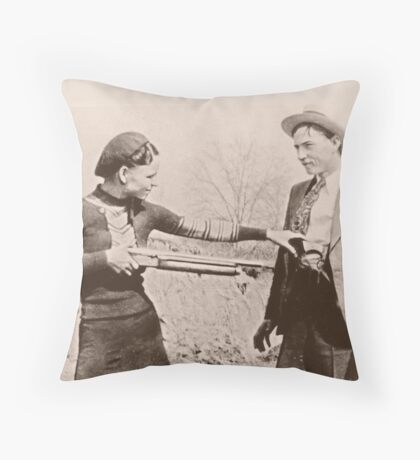 Bonnie and Clyde I Throw Pillow