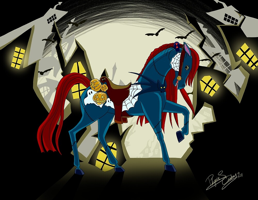 Night Mare Carousel by ArtfromtheAshes
