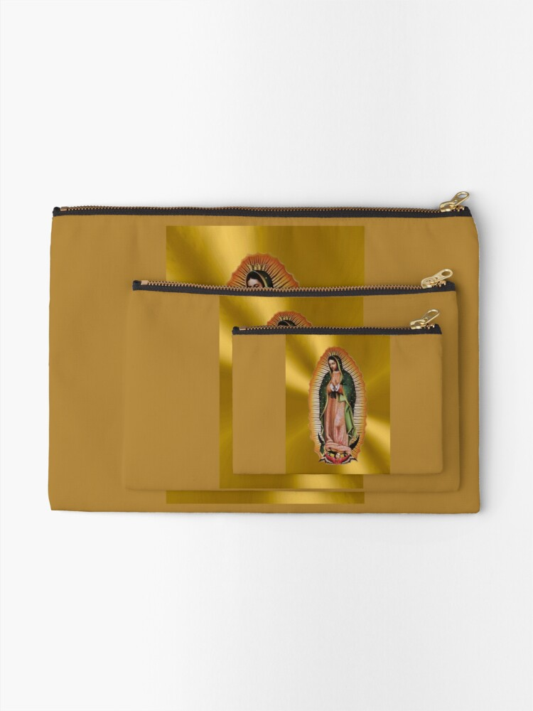 Alternate view of Our Lady of Guadalupe Mexican Favorite Zipper Pouch