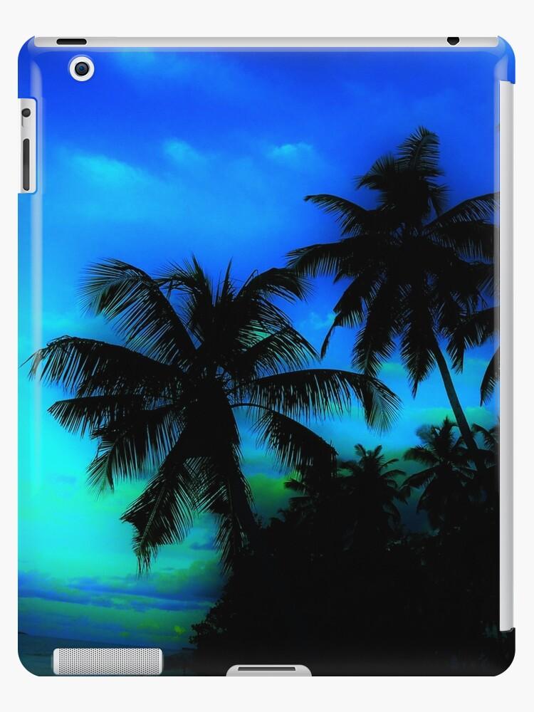 Palm Paradise - Blue and Green by Elisha Devenport