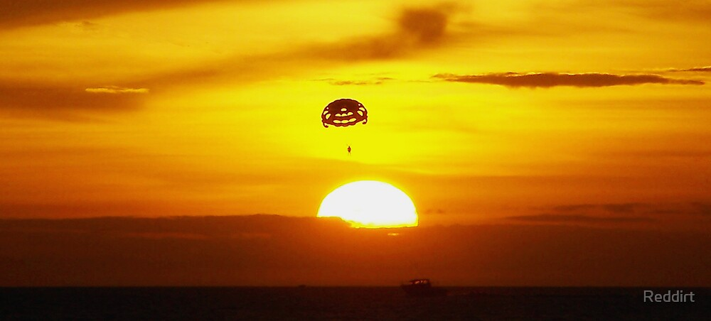 Parasailing into the sunset. by Reddirt