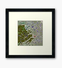 Cool Perspective - Green Olive, Sage & Blue Framed Print