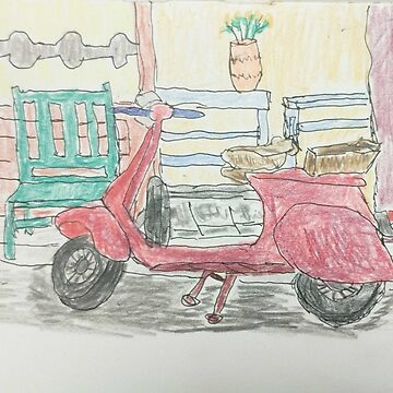 Red scooter by BillDrew