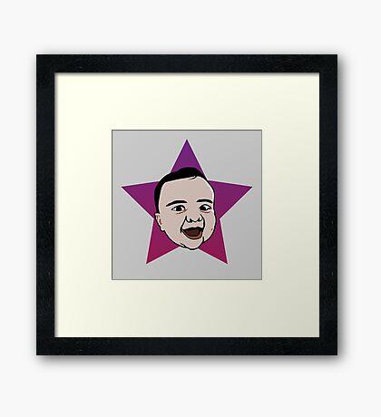 NDVH Pop Art Violet Framed Print