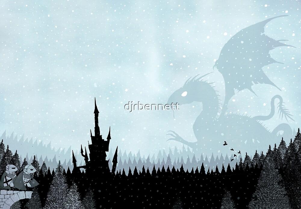 Dragon in Snowy Forest by djrbennett