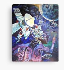 Spaceship Earth Mural Metal Print