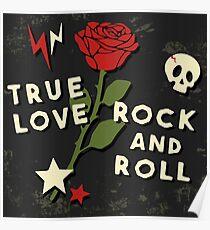 Grunge rock slogan print Poster
