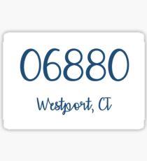 06880 Westport, CT Navy Sticker