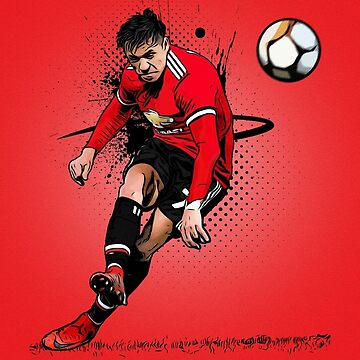 Alexis Sanchez Manchester United Free Kick Illustration by theunitedpage