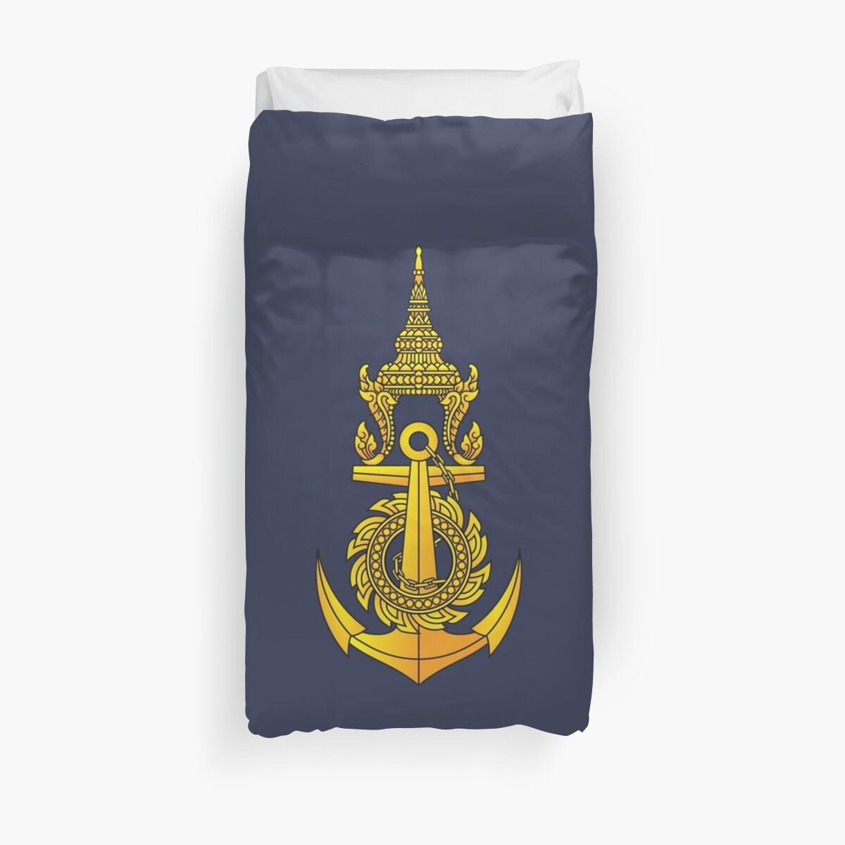 'Royal Thai Navy - กองทัพเรือไทย' Duvet Cover by wordwidesymbols