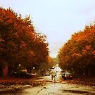 A Rainy Day in Autumn by Lozzar Landscape