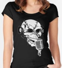 Singing Skull  Women's Fitted Scoop T-Shirt