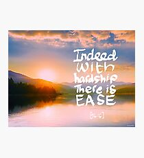 Ease Photographic Print