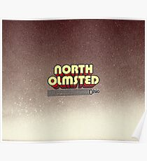 North Olmsted, Ohio | Retro Stripes Poster