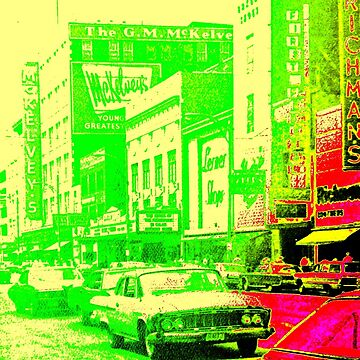 Lemon-Lime Downtown Youngstown - 1960s  by MetroStore